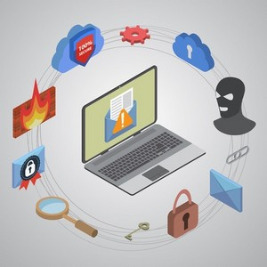 data protection against hacking concept