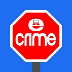 stop  cyber crime sign with laptop
