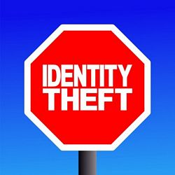 stop identity theft sign