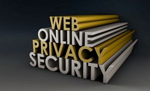 web online privacy security sign